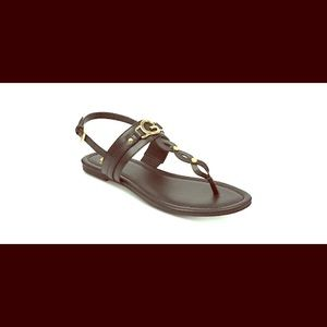 G by Guess - Links Flat Sandals - Black/Gold